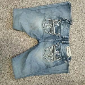 Rock Revival Jeans Sz 29 Bootcut Factory Destroyed